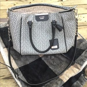 Guess black and grey logo purse